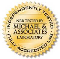 laboratory seal for independently tested NRR-accredited materials