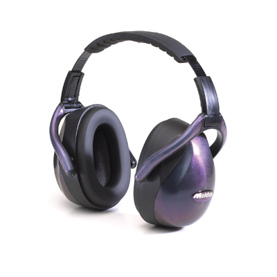 reusable purple earmuffs for hearing protection